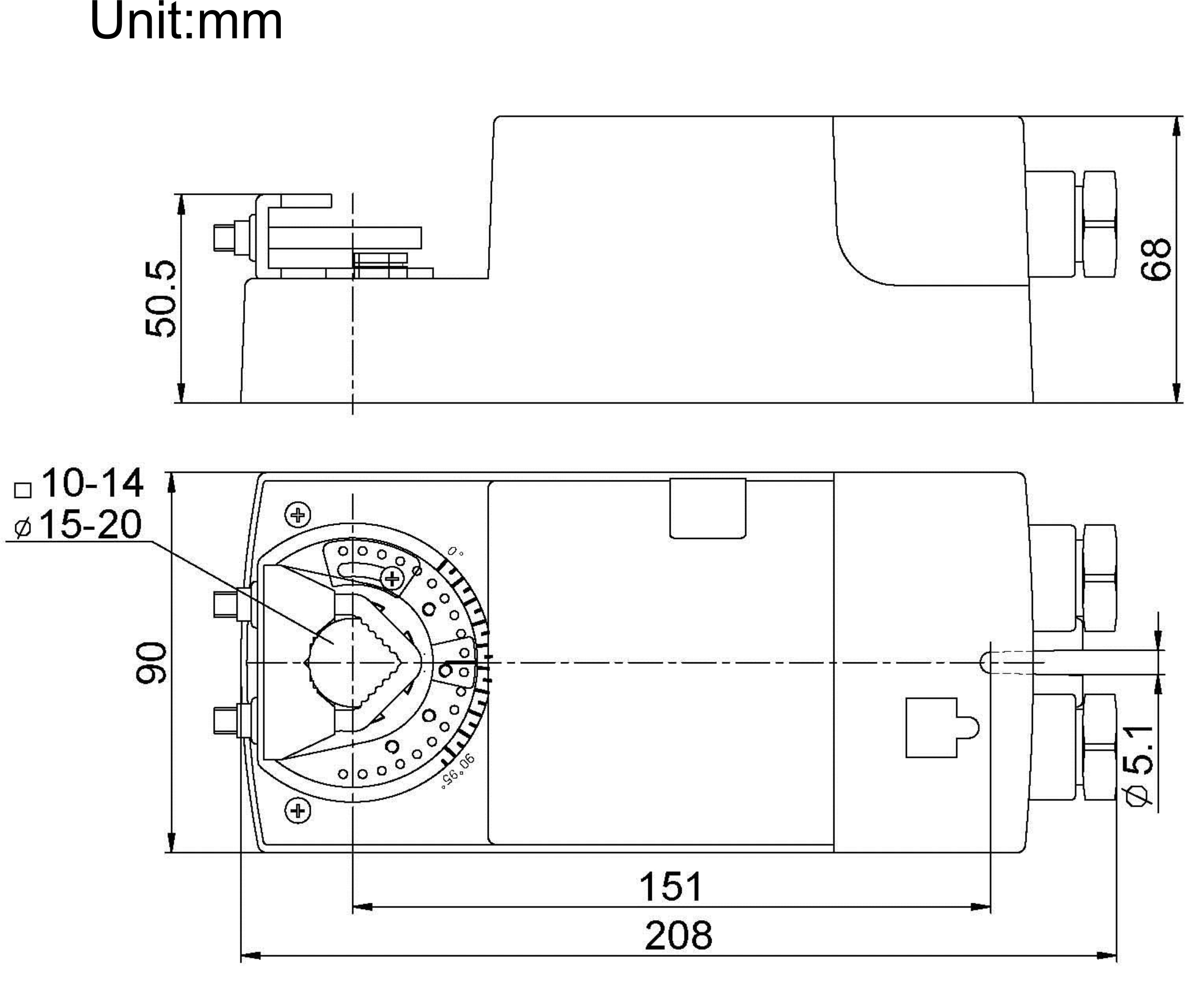 3-point Floating Type Damper Actuator